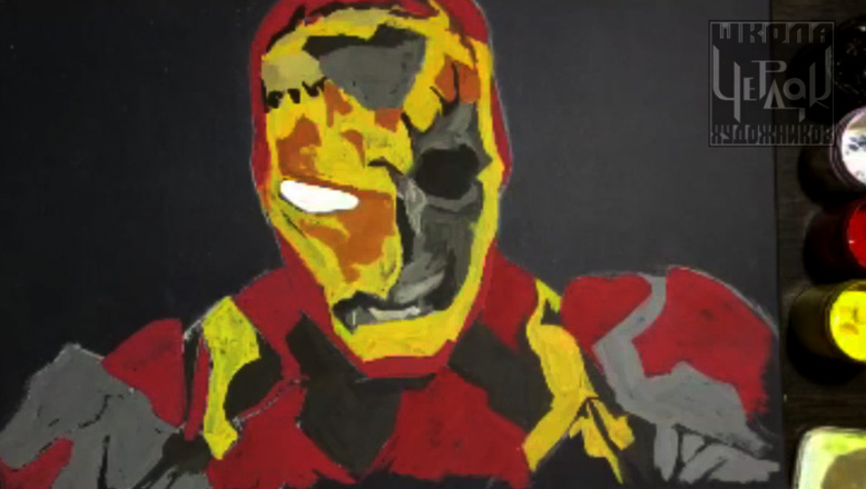 Арт портрет фанату комиксов. Деталировка